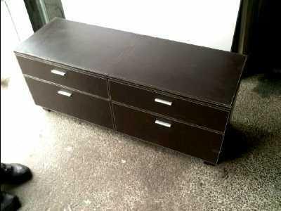 Meuble tv 4 tiroirs cuir d 39 occasion for Meuble tiroir cuir