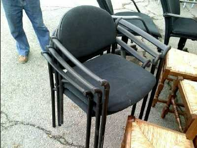 chaise de bureau noir d 39 occasion. Black Bedroom Furniture Sets. Home Design Ideas