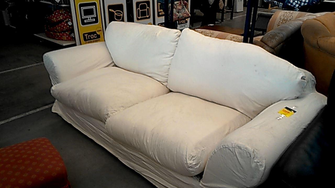 Canape tissu blanc convertible d 39 occasion - Produit nettoyant canape tissu ...